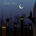 Beautiful ramadan kareem background with arabic