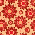 Beautiful Red Flower Seamless Pattern Royalty Free Stock Photography