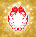 Beautiful red gift bows with ribbons. Royalty Free Stock Photos