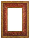 Beautiful red gold frame Stock Photography