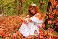 Beautiful red-haired bride Royalty Free Stock Images