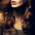 A Beautiful red-haired girl's portrait Royalty Free Stock Photo