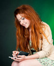 Beautiful red haired woman Royalty Free Stock Images