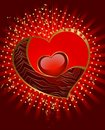 Beautiful red heart Stock Photography