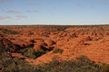 The beautiful red landscape of king s canyon in central australia Royalty Free Stock Photography