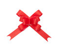 Beautiful red ribbon gift bow Royalty Free Stock Photos