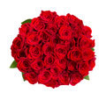 Beautiful red roses bouquet isolated on white Royalty Free Stock Photo