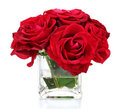 Beautiful red roses in a vase Stock Photography