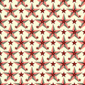 Beautiful red stars on a light background seamless pattern vector illustration Royalty Free Stock Photo