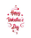Beautiful red text Valentine`s day