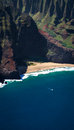 Beautiful remote beach a on the na pali coastline on the hawaiian island of kauai Royalty Free Stock Image