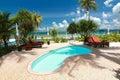 Beautiful resort and beach at trang thailand Royalty Free Stock Photos