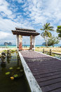 Beautiful resort entrace krabi thailand entrance to a beach Stock Photography