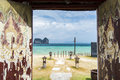 Beautiful resort entrace krabi thailand entrance to a beach Stock Image