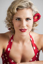 Beautiful Retro Pinup Girl Portrait Royalty Free Stock Photo