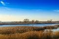 Beautiful river dnepr in ukraine autumn Royalty Free Stock Photos