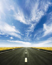 Beautiful road to nowhere spring horizon Royalty Free Stock Photo