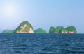 Beautiful rocks andaman sea thailand Royalty Free Stock Image