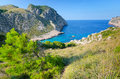 Beautiful rocky sea bay on majorca tropical landscape of coast Royalty Free Stock Photos