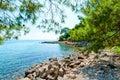 Beautiful rocky shore Royalty Free Stock Photo
