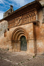Beautiful romanesque church excellent example of chruch art from a small village called moarves de ojeda in the povince of Royalty Free Stock Photography