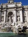 Beautiful romantic Fontana di Trevi Rome Italy Royalty Free Stock Photo