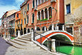 Beautiful romantic venice canals bridges Royalty Free Stock Images