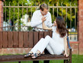 Beautiful romantic young couple in love Royalty Free Stock Photos