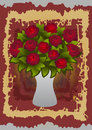 Beautiful roses in vase Royalty Free Stock Photo