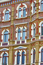 Beautiful rows of windows Royalty Free Stock Image