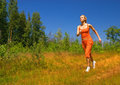 Beautiful running girl Royalty Free Stock Photos
