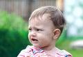 Beautiful Sad Baby Crying On N...