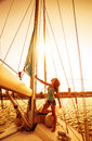 Beautiful sailor girl Royalty Free Stock Photo