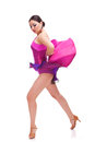 Beautiful salsa dancer posing in dance Royalty Free Stock Photos