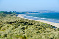 Beautiful sand beach in co wexford blue flag and dune system ireland Royalty Free Stock Images