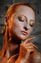 Beautiful sandgirl Royalty Free Stock Photo