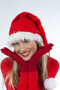 Beautiful Santa Claus girl Royalty Free Stock Image