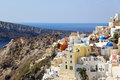 Beautiful santorini oia village greece Royalty Free Stock Photos