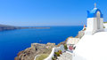Beautiful santorini panoramic view at noon Royalty Free Stock Photo