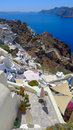 Beautiful santorini panoramic view at noon Stock Photo