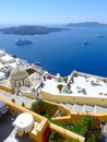 Beautiful santorini panoramic view at noon Royalty Free Stock Image
