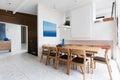 Beautiful scandinavian style interior in mid century modern Australian home Royalty Free Stock Photo