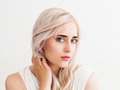 Beautiful scandinavian woman portrait, close-up Royalty Free Stock Photo