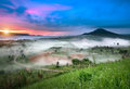 Beautiful scenary in the north part of Thailand Royalty Free Stock Photo