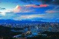 Beautiful Scene of Taipei in Evening Stock Photography