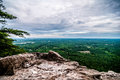 Beautiful scenery from crowders mountain in north carolina Stock Image