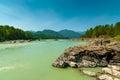 Beautiful scenery of nature scenic in russian siberia Stock Photo