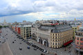 Beautiful scenery from the observation deck at the Central Children`s World on Lubyanka Square in Moscow, Russia Royalty Free Stock Photo