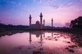 Beautiful scenery during sunrise at bukit jelutong mosque malaysia Stock Photos