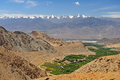 Beautiful scenic view of leh valley ladakh range jammu kashmir northern india Royalty Free Stock Photos